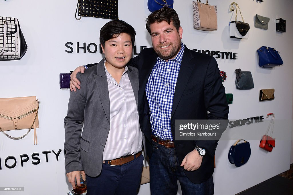 Jen Wong and Brian Sugar attend the launch of We Search. We Find. We ShopStyle on February 3, 2014 in New York City.