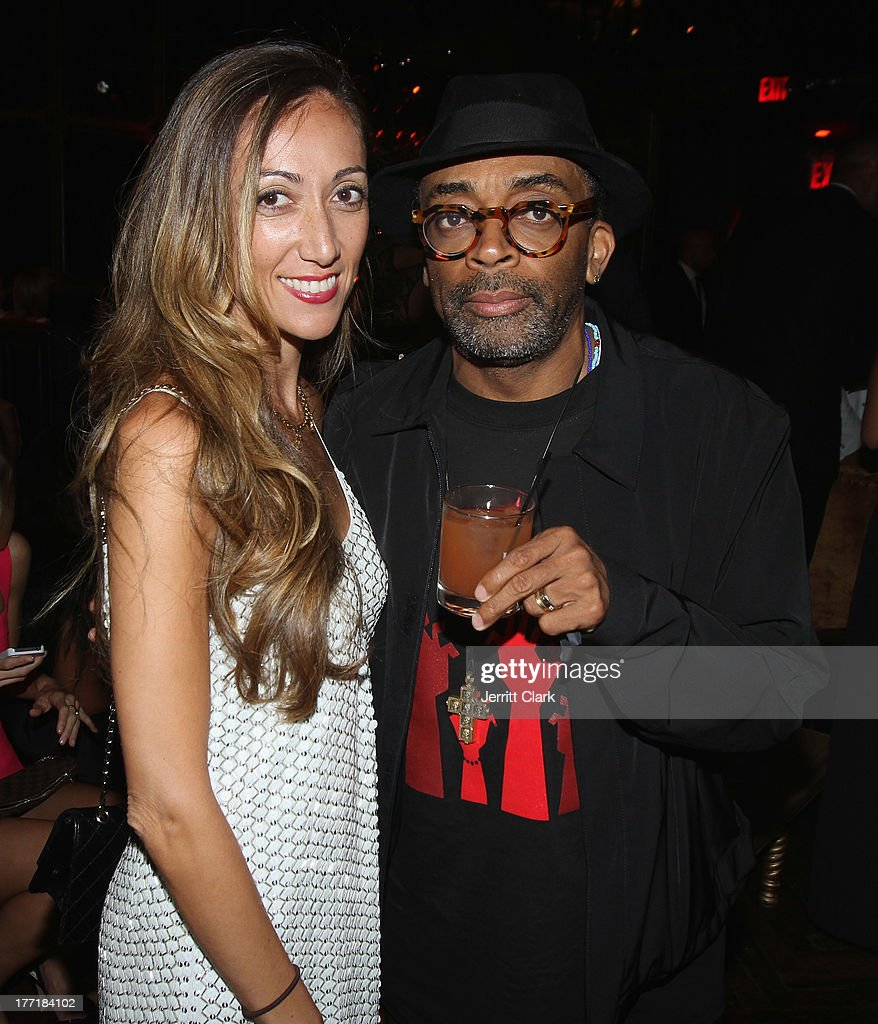 Jen Yu of Hennessy and <a gi-track='captionPersonalityLinkClicked' href=/galleries/search?phrase=Spike+Lee&family=editorial&specificpeople=156419 ng-click='$event.stopPropagation()'>Spike Lee</a> attend the 10th Annual Hennessy Privelage Awards honoring Carmelo Anthony at The Griffin on August 21, 2013 in New York City.