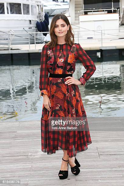 Jena Coleman attends Photocall for 'Victoria' as part of MIPCOM at Palais des Festivals on October 17 2016 in Cannes France