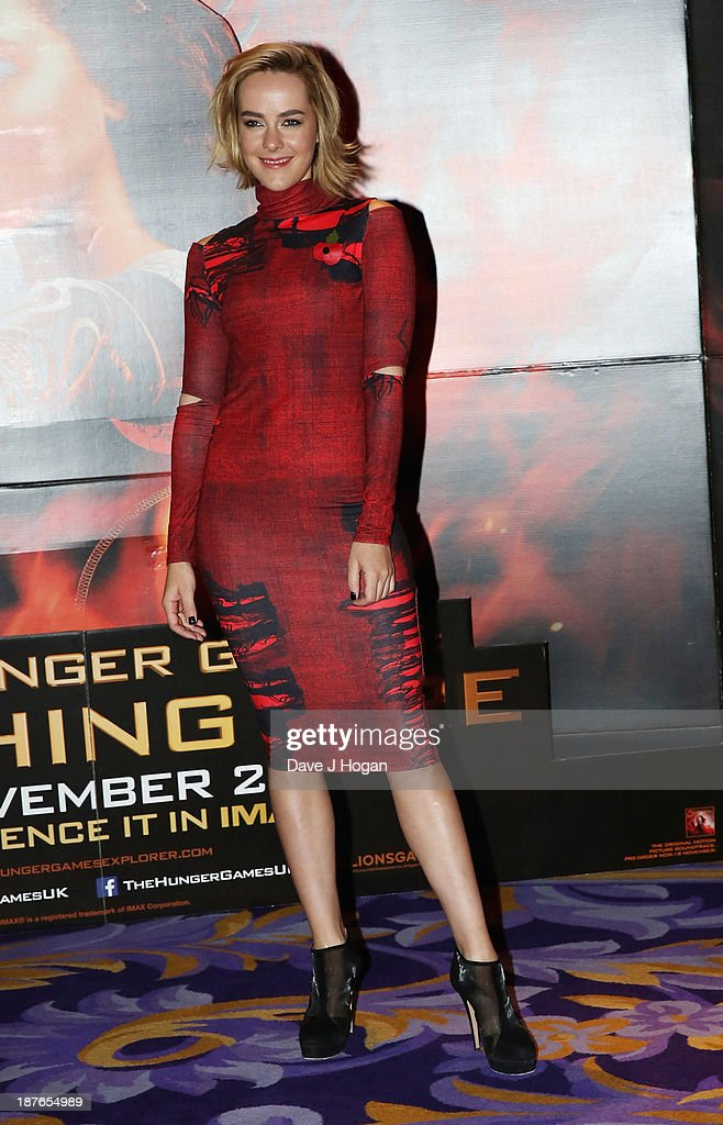 <a gi-track='captionPersonalityLinkClicked' href=/galleries/search?phrase=Jena+Malone&family=editorial&specificpeople=216548 ng-click='$event.stopPropagation()'>Jena Malone</a> attends a photocall for 'The Hunger Games: Catching Fire' at Corinthia Hotel London on November 11, 2013 in London, England.