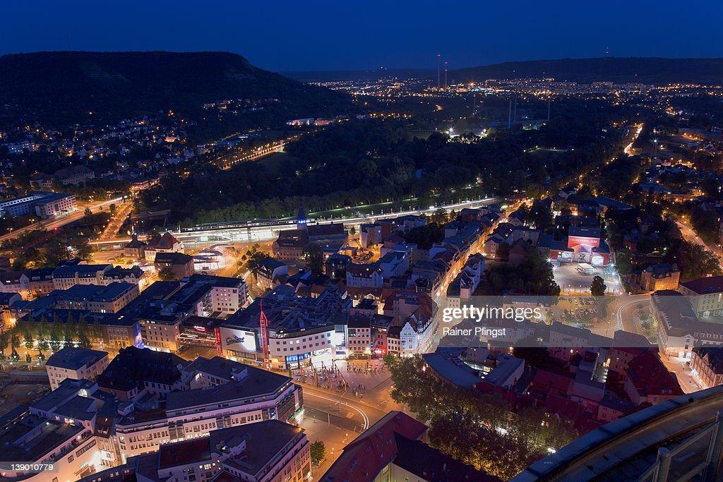 Jena, Thuringia at blue hour