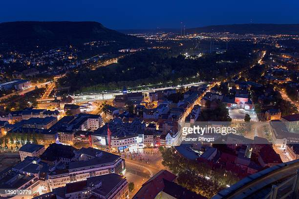 Jena, Thuringia at blue hour