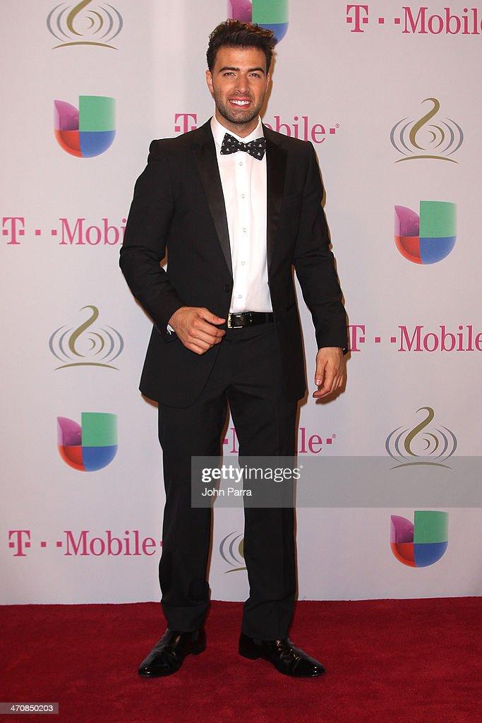 JenCarlos Canela attends Premio Lo Nuestro a la Musica Latina 2014 at American Airlines Arena on February 20, 2014 in Miami, Florida.