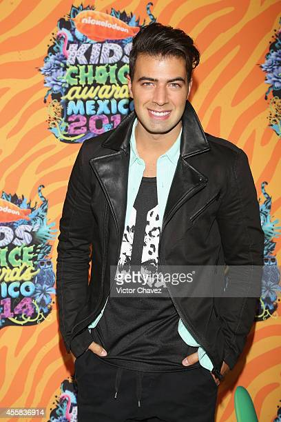 Jencarlos Canela attends the Nickelodeon Kids' Choice Awards Mexico 2014 at Pepsi Center WTC on September 20 2014 in Mexico City Mexico
