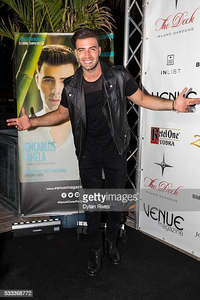 Jencarlos Canela attends Venue Magazine's May/June 2016 Cover Party With Jencarlos Canela at The Deck Island Gardens on May 21 2016 in Miami Florida
