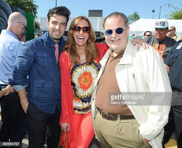 Jencarlos Canela Lili Estefan and Raul De Molina participates in the 44th annual Three Kings Day Parade in Little Havana on January 12 2014 in Miami...