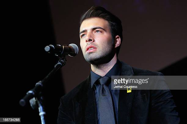 Jencarlos Canela performs onstage at the annual Freedom Award Benefit hosted by the International Rescue Committee at The Waldorf=Astoria on November...