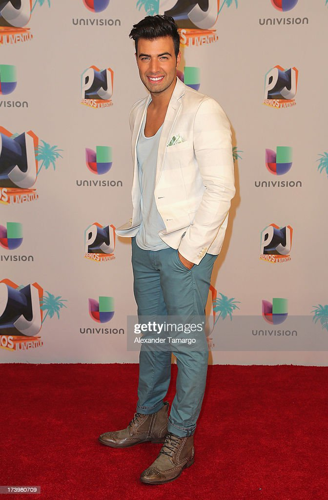 Jencarlos Canela poses in the press room during the Premios Juventud 2013 at Bank United Center on July 18, 2013 in Miami, Florida.