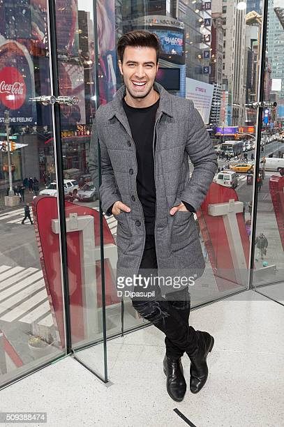 Jencarlos Canela visits 'Extra' at their New York studios at HM in Times Square on February 10 2016 in New York City