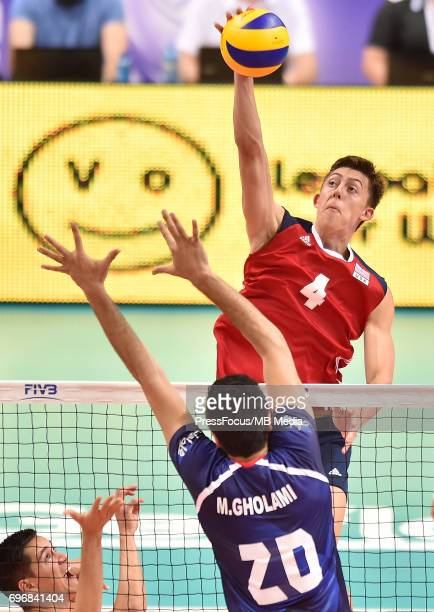 Jendryk Jeffrey during the FIVB World League 2017 match between Iran and USA at Arena Spodek on June 15 2017 in Katowice Poland
