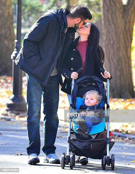 Jenelle Evans David Eason and Kaiser Griffith are seen in Central Park on November 22 2015 in New York City