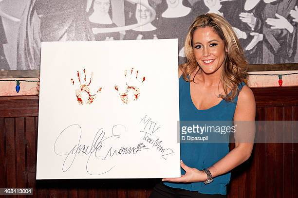 Jenelle Evans visits Buca di Beppo Times Square on April 2 2015 in New York City