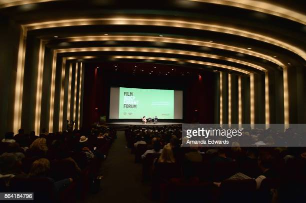 Jenelle Riley John Curran and Jason Clarke attend day 1 of the Film Independent Forum at DGA Theater on October 20 2017 in Los Angeles California