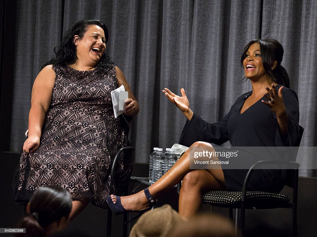 Jenelle Riley of Variety (L) and actress <a gi-track='captionPersonalityLinkClicked' href=/galleries/search?phrase=Nia+Long&family=editorial&specificpeople=206752 ng-click='$event.stopPropagation()'>Nia Long</a> attend a career retrospective for SAG-AFTRA Foundation Conversations at SAG-AFTRA Foundation on June 27, 2016 in Los Angeles, California.