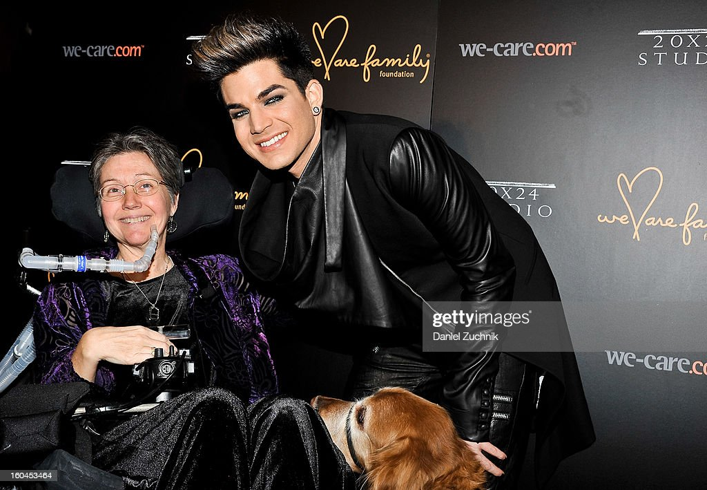 Jeni Stepanek and <a gi-track='captionPersonalityLinkClicked' href=/galleries/search?phrase=Adam+Lambert&family=editorial&specificpeople=5706674 ng-click='$event.stopPropagation()'>Adam Lambert</a> attend the 2013 We Are Family Foundation Gala at Hammerstein Ballroom on January 31, 2013 in New York City.