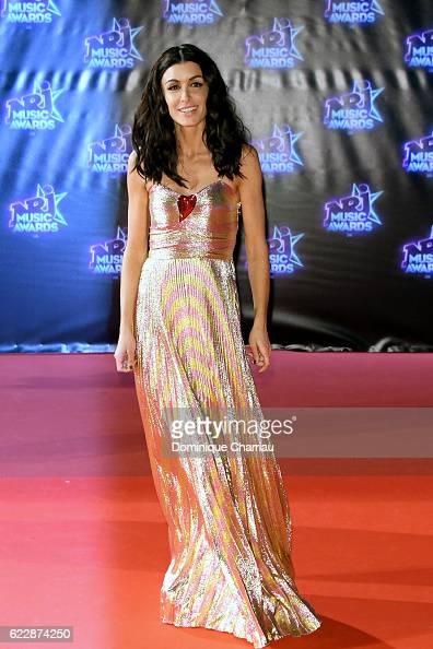 Jenifer attends the18th NRJ Music Awards Red Carpet Arrivals at Palais des Festivals on November 12 2016 in Cannes France