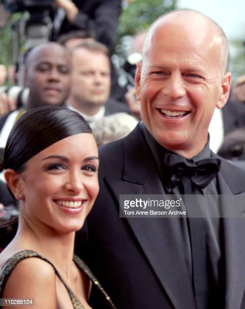Jenifer Bartoli and Bruce Willis during 2006 Cannes Film Festival 'Over The Hedge' Premiere at Palais des Festival in Cannes France