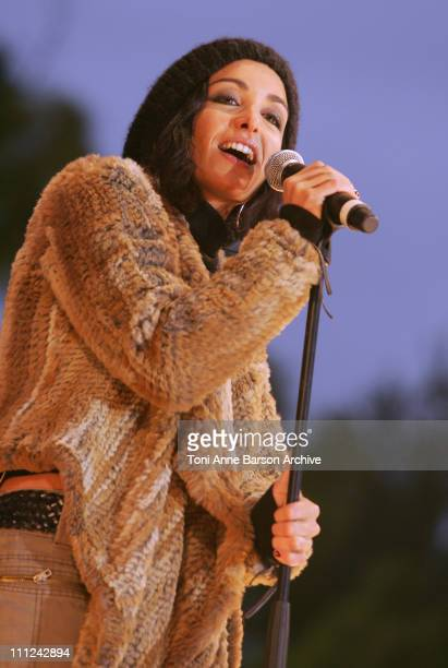 Jenifer Bartoli during Concert des Pieces Jaunes a Nice Yellow Coins Concert to Help Children in Hospitals at Theatre de Verdure in Nice France