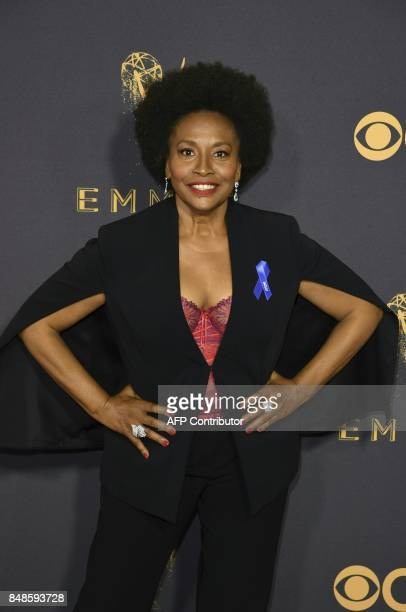 Jenifer Lewis arrives for the 69th Emmy Awards at the Microsoft Theatre on September 17 2017 in Los Angeles California / AFP PHOTO / Mark RALSTON