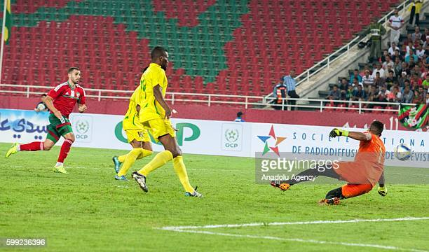 Jenimy Cravid Sousa of Sao Tome and Principe is in action during the 2017 African Cup of Nations qualification football match between the national...