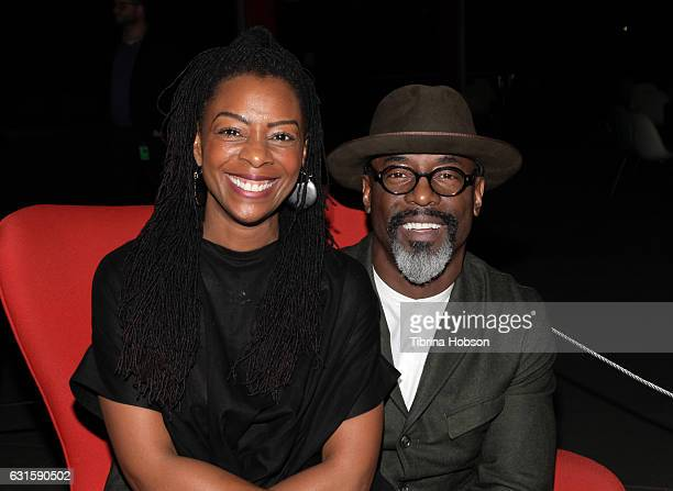Jenisa Garland and Isaiah Washington attend the premiere of Magnolia Pictures 'I Am Not Your Negro' at LACMA on January 12 2017 in Los Angeles...