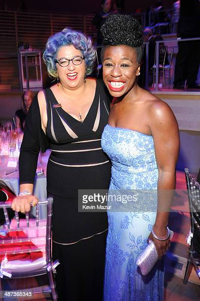 Jenji Kohan and Uzo Aduba attend the TIME 100 Gala TIME's 100 most influential people in the world at Jazz at Lincoln Center on April 29 2014 in New...