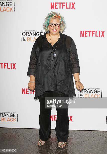 Jenji Kohan arrives at the Los Angeles Screening of 'Orange Is The New Black' held at DGA Theater on August 4 2014 in Los Angeles California