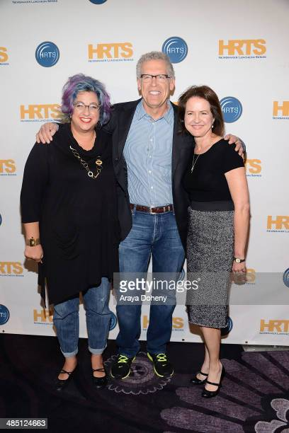 Jenji Kohan Carlton Cuse and Michelle Ashford attend The Hollywood Radio and Television Society's annual hitmakers panel at The Beverly Hilton Hotel...