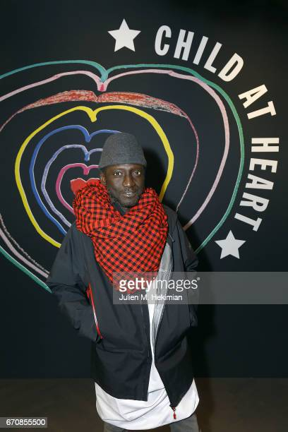 Jenke Ahmed attends Fashion For Relief 'Child At Heart' cocktail party on April 20 2017 in Paris France The 'Child At Heart' collection created by...