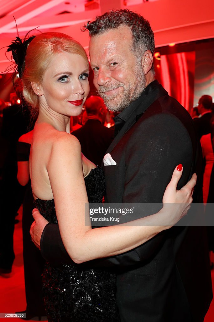 Jenke von Wilmsdorff and Mia von Wilmsdorff attend the Rosenball 2016 on April 30, 2016 in Berlin, Germany.