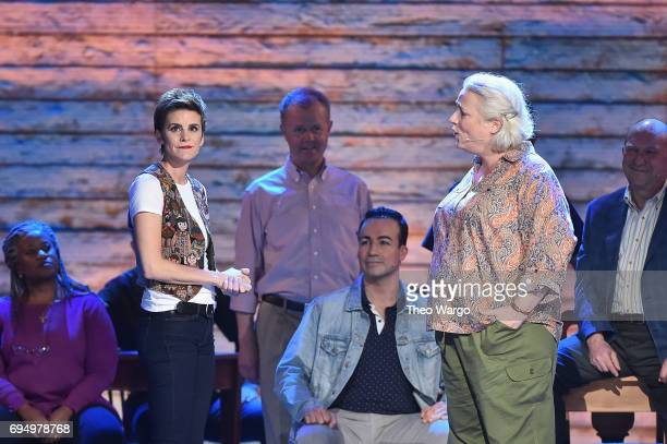 Jenn Colella and the cast of 'Come From Away' perform onstage during the 2017 Tony Awards at Radio City Music Hall on June 11 2017 in New York City