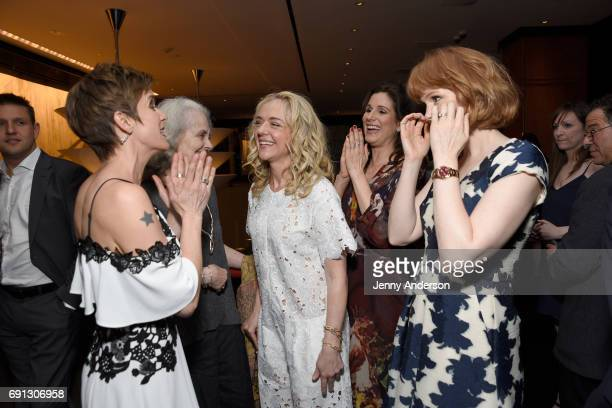 Jenn Colella Mary Beth Peil Rachel Bay Jones Stephanie J Block and Kate Baldwin attend Designed To Celebrate A Toast To The 2017 Tony Awards Creative...