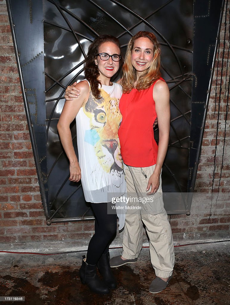 Jenn Harris and Laura Jordan attend the closing night party for 'Silence! The Musical' at Elektra Theatre on July 7, 2013 in New York City.