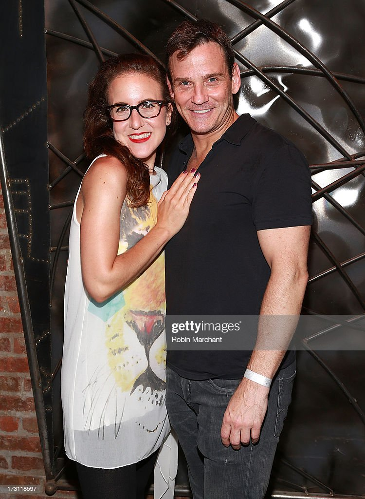 Jenn Harris (L) and Sean McDermott attend the closing night party for 'Silence! The Musical' at Elektra Theatre on July 7, 2013 in New York City.