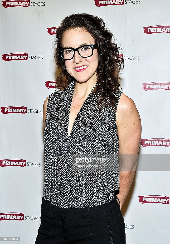 Jenn Harris attends the 'All In The Timing' press preview at Primary Stages Rehearsal Studio on January 8, 2013 in New York City.