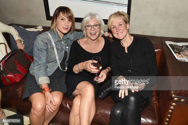 Jenn Mapp Bressan Ann Ratner and Lisa Rieve attend the Nicole Miller Spring 2018 Presentation at Gramercy Terrace at The Gramercy Park Hotel on...