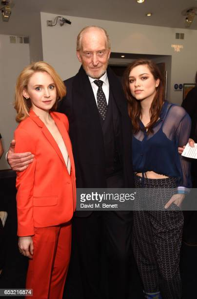 Jenn Murray Charles Dance and Sophie Cookson attend the Into Film Awards 2017 at Odeon Leicester Square on March 14 2017 in London England