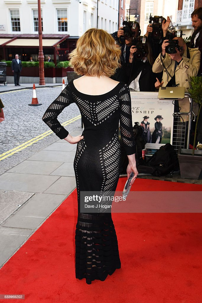 Jenn Murray, dress detail, attends the UK premiere of 'Love and Friendship' at The Curzon Mayfair on May 24, 2016 in London, England.