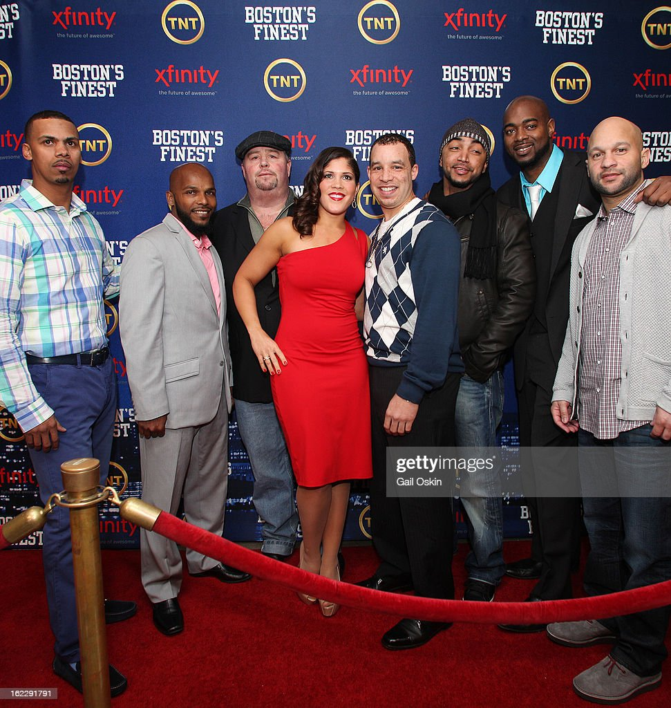 Jenn Penton and cast and crew attend TNT's 'Boston's Finest' premiere screening at The Revere Hotel on February 20, 2013 in Boston, Massachusetts.