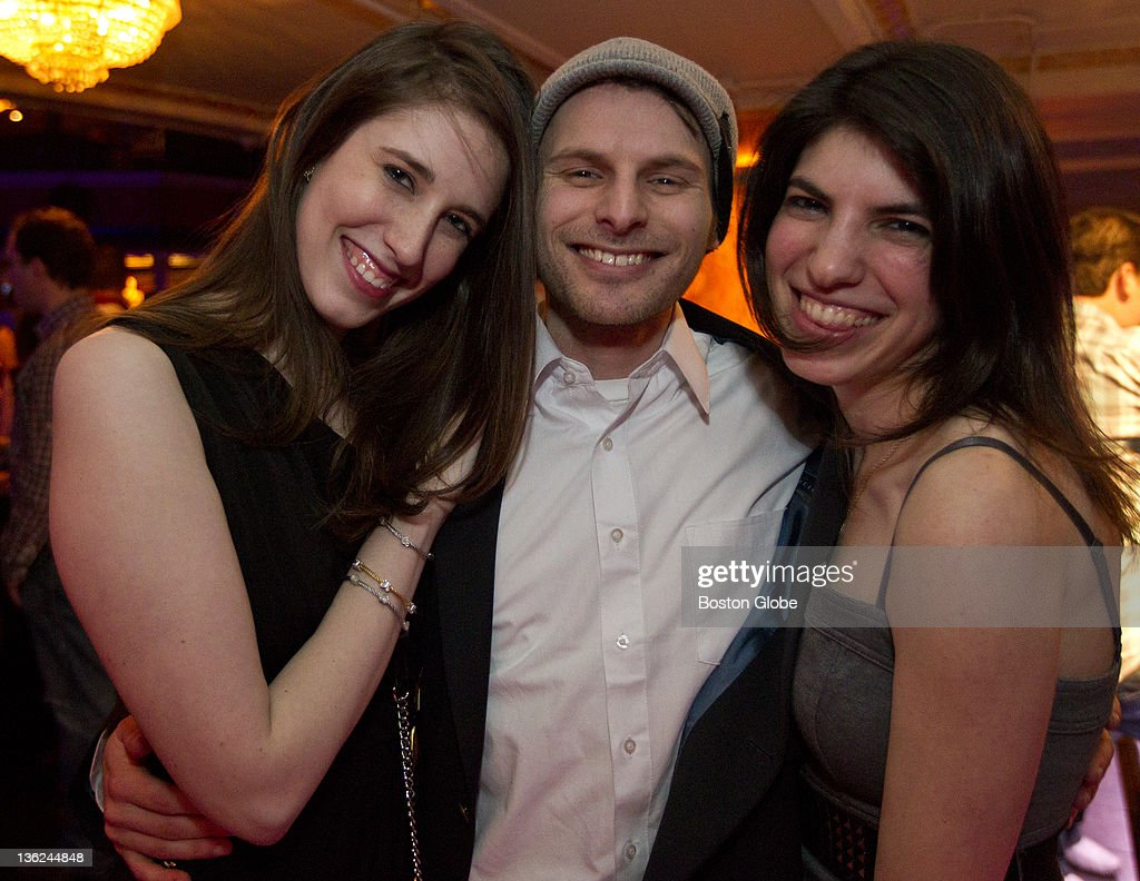 Jenn Rubin left of Cambridge Eric Rosenberg of Newton and Alexandra Smolen of Boston attended the Matzo Ball at the Royale Nightclub on Friday Dec 24...