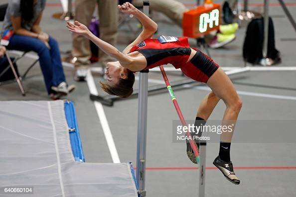 Jenna Breaker of Ripon College clears the bar enroute to winning the Women's High Jump at the Division III Men's and Women's Indoor Track and Field...