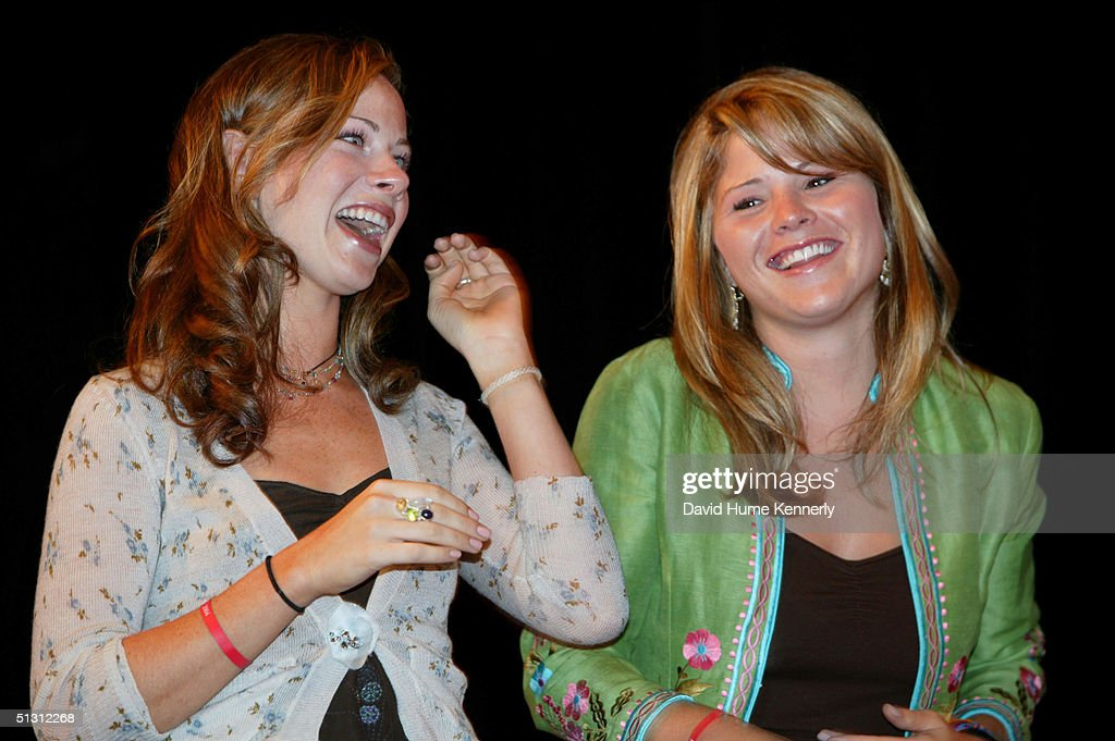 Jenna Bush and Barbara Bush the twin daughters of President George W Bush appear at a 'W Stands For Women' rally during the Republican National...