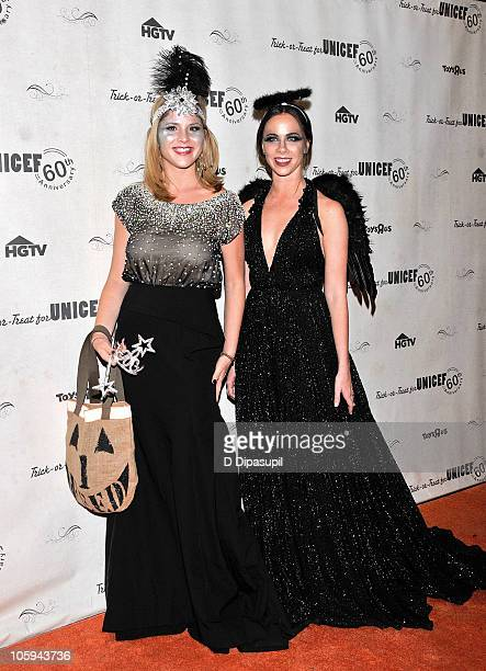 Jenna Bush Hager and Barbara Bush attend the 2010 UNICEF Masquerade Ball at The Angel Orensanz Foundation on October 21 2010 in New York City