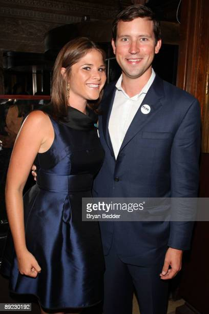 Jenna Bush Hager and Henry Hager attend the UNICEF Next Generation launch event at The Gates July 23 2009 in New York City
