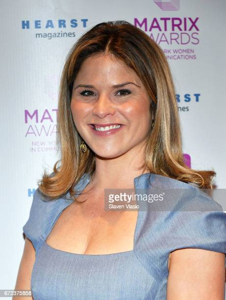 Jenna Bush Hager attends 2017 Matrix Awards at Sheraton New York Times Square on April 24 2017 in New York City