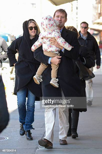 Jenna Bush Hager daughter Mila Hager and Henry Hager are seen in New York City on March 22 2015 in New York City