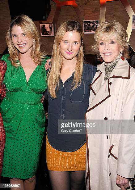 Jenna Bush Hager Grace Gummer and Jane Fonda attend 'A Candid Conversation with Jane Fonda and Andy Cohen' benefitting the Georgia Campaign for...