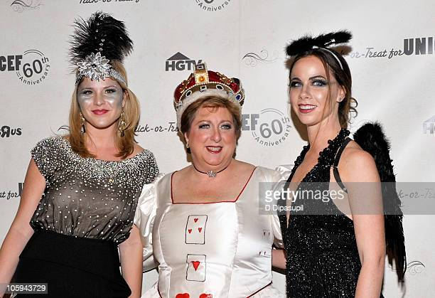 Jenna Bush Hager UNICEF President and CEO Caryl Stern and Barbara Bush attend the 2010 UNICEF Masquerade Ball at The Angel Orensanz Foundation on...