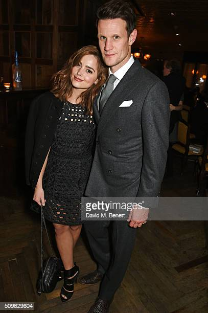 Jenna Coleman and Matt Smith attend Harvey Weinstein's preBAFTA dinner in partnership with Burberry and GREY GOOSE at Little House Mayfair on...
