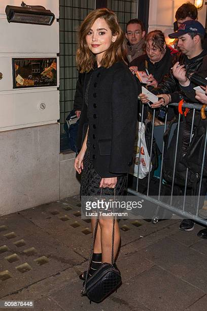 Jenna Coleman arrive the Weinsten x Grey Goose Pre BAFTA party at Little House Mayfair on February 12 2016 in London England